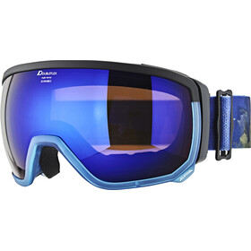 Alpina Scarabeo MM S3 Goggle el-blue spherical/transparent blue-black